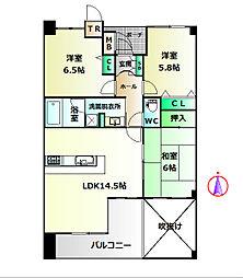 セントファミーユ西神戸ノースフィールド[2階]の間取り