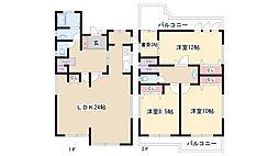 [一戸建] 愛知県名古屋市名東区社台2丁目 の賃貸【/】の間取り