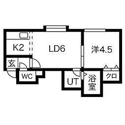 ヴィオレッテII[2階]の間取り