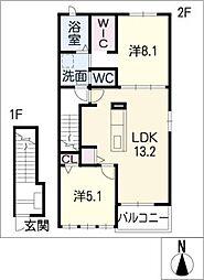 エトワール II[2階]の間取り
