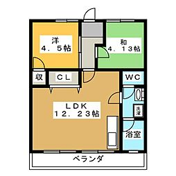 メトロポリス3号館[3階]の間取り