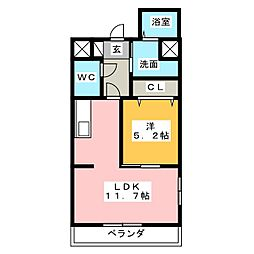 ビアンヌール八幡駅[2階]の間取り