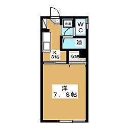 Plaza桂木[1階]の間取り