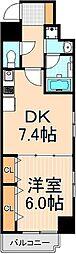 KWレジデンス蔵前[6階]の間取り