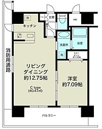 ノルデンタワー新大阪プレミアム[23階]の間取り