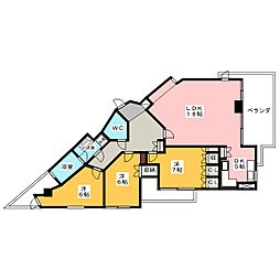 Ns21やごと[4階]の間取り