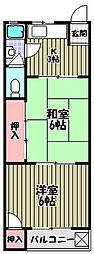 三国ヶ丘マンション[2階]の間取り