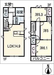 [一戸建] 愛知県名古屋市名東区牧の里3丁目 の賃貸【/】の間取り