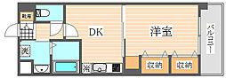 グロースメゾン博多山王[7階]の間取り