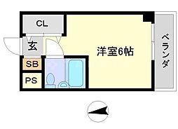 カミング[4階]の間取り