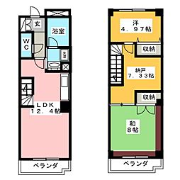 K・Kマンション[2階]の間取り