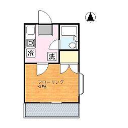 コモエスタイチハシ[2階]の間取り