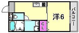 ハウスアイ立花I[2階]の間取り