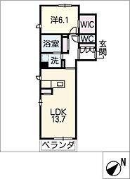 サンフラット高松[1階]の間取り