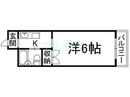 なごみハイツ[6階]の間取り