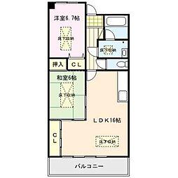 RENACE MITOU(ルネスミトウ)[6階]の間取り