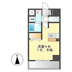 ザ・ノーブル・レジデンス上更[8階]の間取り