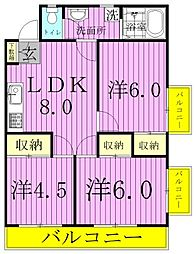 K's FLAT3[303号室]の間取り