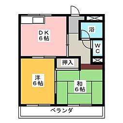シンプルハイツサカエ[1階]の間取り