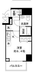 N-stage Toyoda 9階ワンルームの間取り