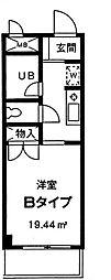 神奈川県大和市南林間1の賃貸マンションの間取り