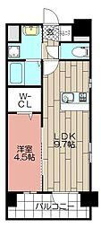 CLUB博多駅南レジデンス[2階]の間取り
