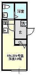 リュクス北寺尾[104号室号室]の間取り