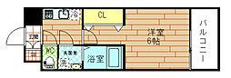 レジュール福島レジデンス[603号室]の間取り