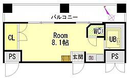 第8田中興産ビル[6階]の間取り