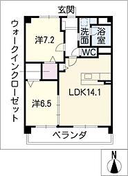 ZWEI KREIS[3階]の間取り