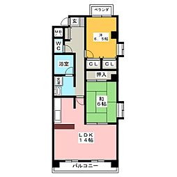 NOVA中村公園[2階]の間取り