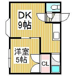 アクセス音羽[2階]の間取り