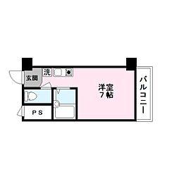 ハイツ玉川5[7階]の間取り