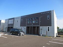 茨城県ひたちなか市阿字ケ浦町の賃貸アパートの外観