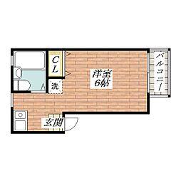 ホウワハイツ[2階]の間取り