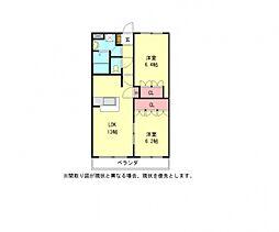 愛知県一宮市開明字出屋敷の賃貸アパートの間取り