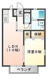 フローラルパウム[1階]の間取り