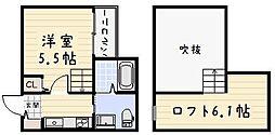 RIDE II[2階]の間取り