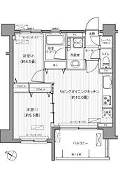 サンウエスト横浜[502号室]の間取り