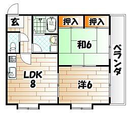 リードTANIGAWA[2階]の間取り