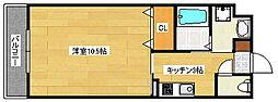 広島県安芸郡府中町本町3丁目の賃貸マンションの間取り