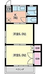 第3小杉コーポ(ダイサンコスギコーポ)[2階]の間取り