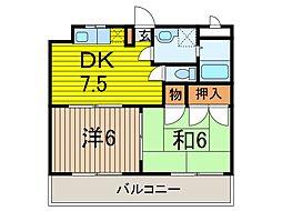 カーサ塚越[3階]の間取り