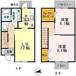 [一戸建] 大阪府大阪市東住吉区山坂2丁目 の賃貸【/】の間取り