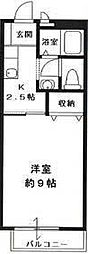 エクシードM[102号室号室]の間取り