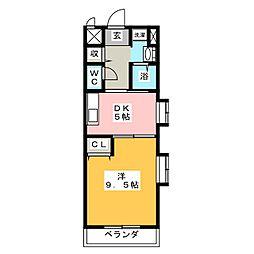 グレース島田本町[3階]の間取り