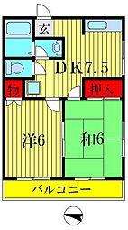 メゾン八千代[2階]の間取り