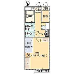 MARUBISHIアパート大橋A棟[104号室]の間取り