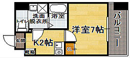 福岡県福岡市博多区綱場町の賃貸マンションの間取り