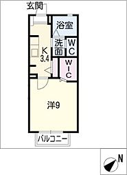 リバーフロント蔵子[2階]の間取り